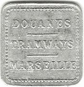 Douanes - Tramways - Marseille – obverse