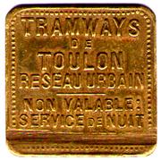 TRAMWAYS DE TOULON – obverse