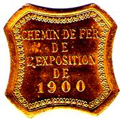 25 CENTIMES CHEMIN DE FER DE L EXPO 1900  PARIS – obverse