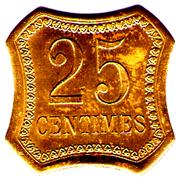 25 CENTIMES CHEMIN DE FER DE L EXPO 1900  PARIS – reverse