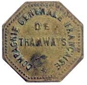 30 Centimes - Compagnie Générale Française de Tramways - Orléans [45] – obverse