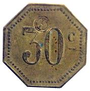 30 Centimes - Compagnie Générale Française de Tramways - Orléans [45] – reverse