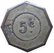 5 Centimes - Société de Consommation de l'Est (Mulhouse) – reverse