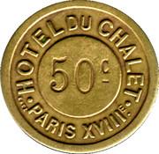 Bon pour 50 Centimes de gaz - Hotel du Chalet - Paris [75] – obverse