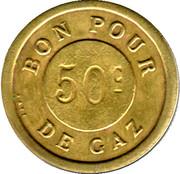 Bon pour 50 Centimes de gaz - Hotel du Chalet - Paris [75] – reverse