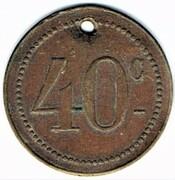40 Centimes - Maxéville – reverse