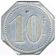 10 Francs - Allo Fcois, Delaume (Nice) – reverse