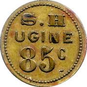 85 Centimes (Société des Habitations des Aciéries Électriques) – obverse