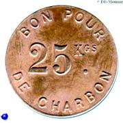 Bon pour 25 Kgs de Charbon - Levallois-Perret [92] – reverse