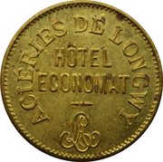 50 Centimes Hôtel Economat (Acieries de Longwy) – obverse