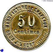 50 Centimes (Hat Manufacture; Bort-les-Orgues) – reverse
