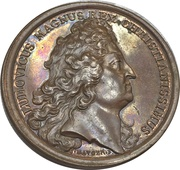 Medal - Louis XIV (Failed bombing of Dunkirk by the English and Dutch fleet) – obverse