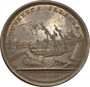 Medal - Louis XIV (Failed bombing of Dunkirk by the English and Dutch fleet) – reverse