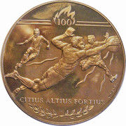 Medal - Atlanta Summer Olympic Games 1996 (Football) – obverse