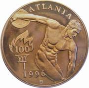 Medal - Atlanta Summer Olympic Games 1996 (Football) – reverse