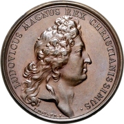 Medal - Louis XIV (Establishment of two marine-corps for sea-cadets) – obverse