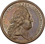 Medal - Louis XIV (Defeat of the Dutch and Spanish fleets at Palermo) – obverse