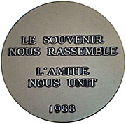 Medal - Amicale des Anciens de la Tour d'Auvergne -  reverse