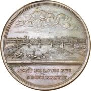 "Medal - Louis XVI (Construction of the bridge ""Pont Louis XVI"" in Paris) – reverse"