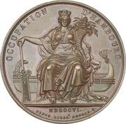 Medal - Napoleon (Occupation of Hamburg) – reverse