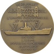 Medal - 25th anniversary of the Union Industrielle et Maritime -  reverse