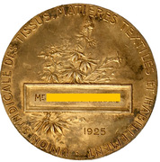 Medal - Union syndicale des tissus, matières textiles et habillement -  reverse