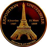 Token - Souvenirs et Patrimoine (Tour Eiffel Exposition) -  obverse