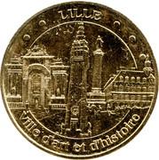 Monnaie de Paris Tourist Token - Lille (Ville d'art et d'histoire - 4 monuments) -  obverse