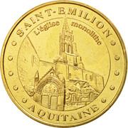Monnaie de Paris Tourist Token - Aquitaine (Saint-Emilion Monolithic Church) -  obverse