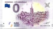 0 EURO DONZENAC CITE MEDIEVALE – obverse