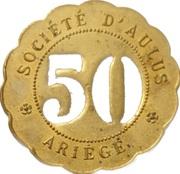 50 Centimes - Société d'Aulus (Ariège) – obverse