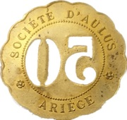 50 Centimes - Société d'Aulus (Ariège) – reverse