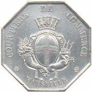 Insurance token - Courtiers de Commerce de Marseille – reverse
