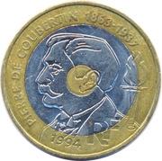 20 Francs (Pierre de Coubertin) -  obverse