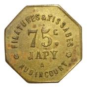 75 Centimes - Filatures et Tissages Japy (Audincourt) – obverse