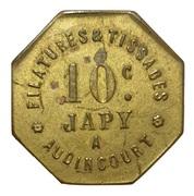 10 Centimes - Filatures et Tissages Japy (Audincourt) – obverse