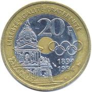 20 Francs (Pierre de Coubertin) -  reverse