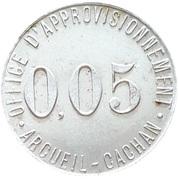0.05 Franc - Office d'approvisionnement (Arcueil-Cachan) – obverse