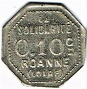 0.1 Centimes  - Coopérative Civile La Solidarité (Roanne) – obverse