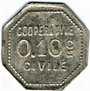 0.1 Centimes  - Coopérative Civile La Solidarité (Roanne) – reverse