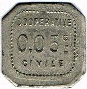 0.5 Centimes - Coopérative Civile La Solidarité (Roanne) – reverse
