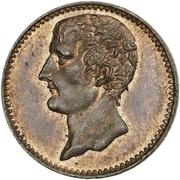 Essai de bronze au module de 2 centimes, Louis-Napoléon Bonaparte 1851 Paris – obverse