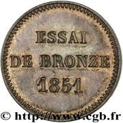 Essai de bronze au module de 2 centimes, Louis-Napoléon Bonaparte 1851 Paris – reverse