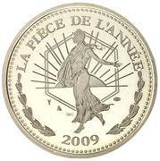 In memoriam - La pièce de l'année 2009 (argent) – reverse
