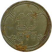 10 Centimes (British Expeditionary Force) – obverse