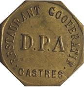 25 Centimes - Restaurant Coopératif D.P.A Castres [81] – obverse