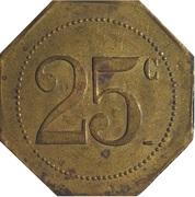 25 Centimes - Restaurant Coopératif D.P.A Castres [81] – reverse