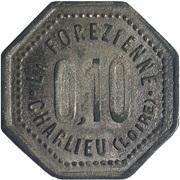 10 Centimes - Charlieu [42] – obverse