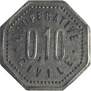 10 Centimes - Charlieu [42] – reverse