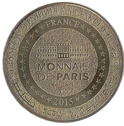Jeton touristique - Monnaie de Paris - Saint Léger de Peyre - Le loup du Gévaudan – reverse
